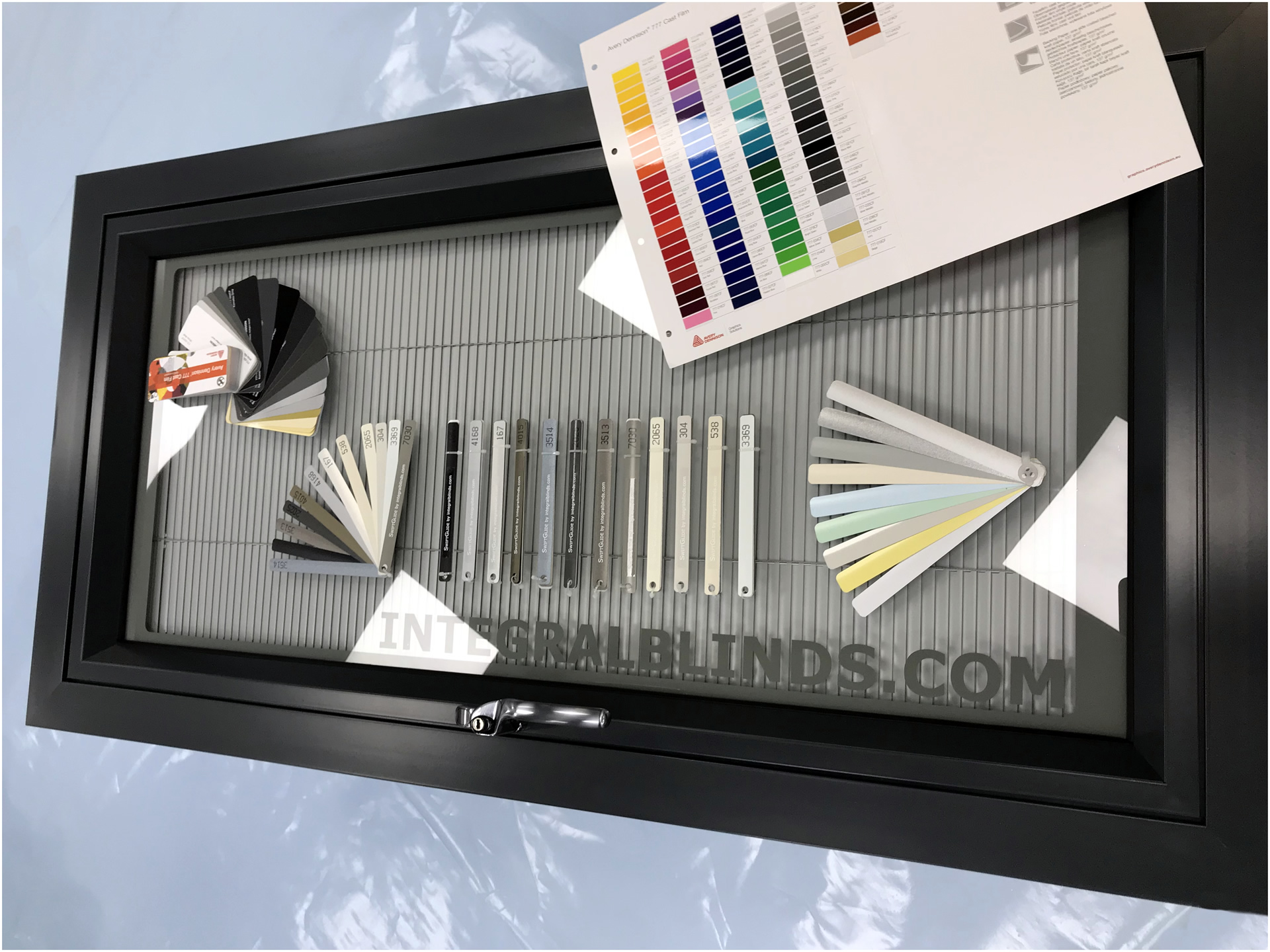 Hightech Integral Blinds Colour options - Swatches available
