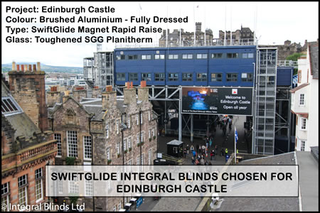 Our Integral Blinds chosen for Edinburgh Castle