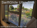 Cordless and wandless integral blinds integrated blinds