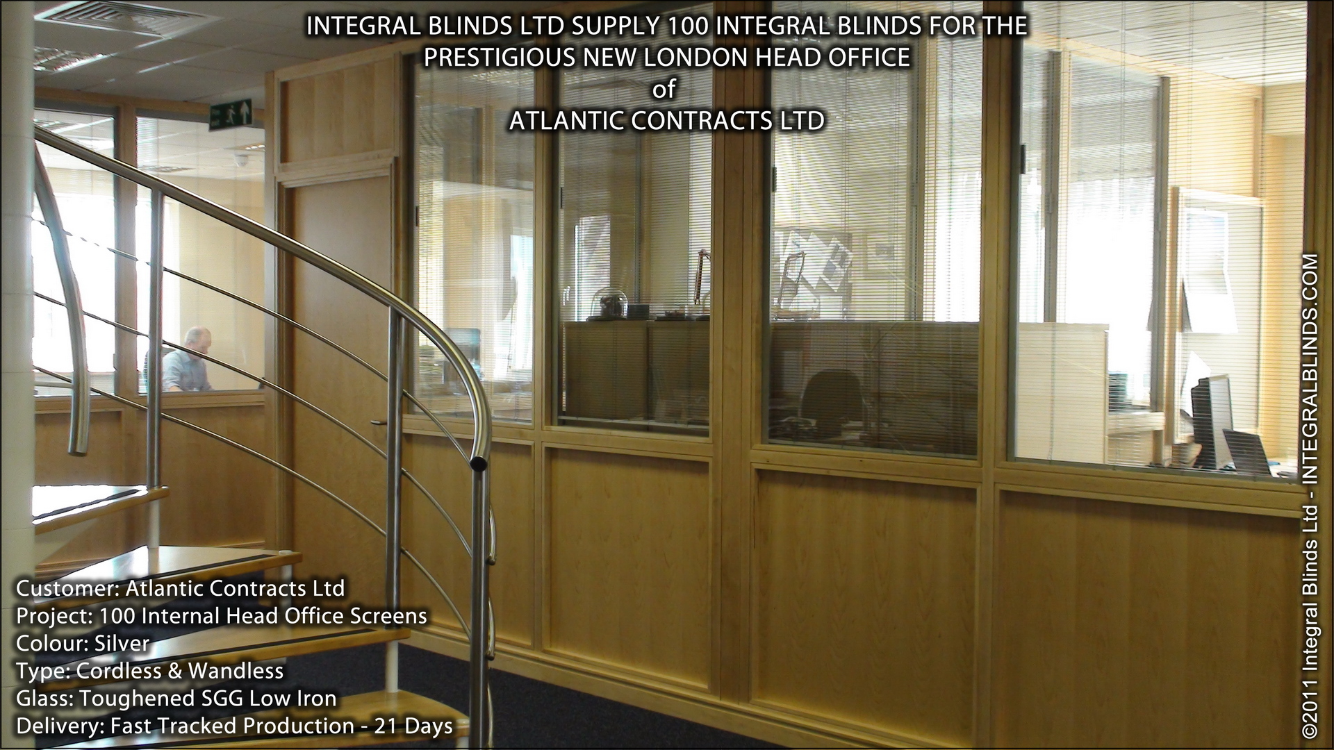 integral blinds for office fitout in london
